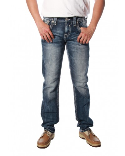 Straight Leg Jean in Acwel by Rock Revival