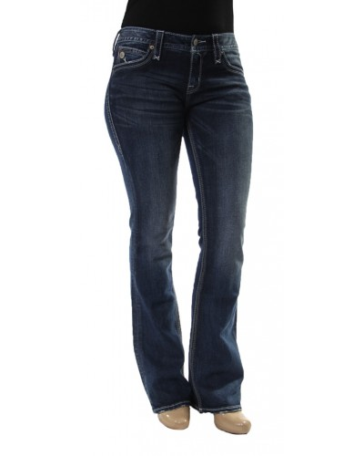 Bootcut Jeans with Fashion Pocket in Viola B3 by Rock Revival