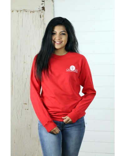 L/S Classic Christmas Bug Tee in Red by Couture Tee