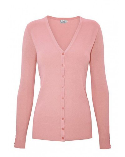 Kari V-Neck Cardigan in Blush