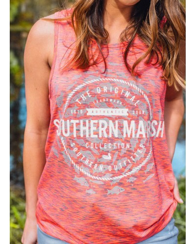 Schools Out Forever Tank in Pink/Midnight by Southern Marsh