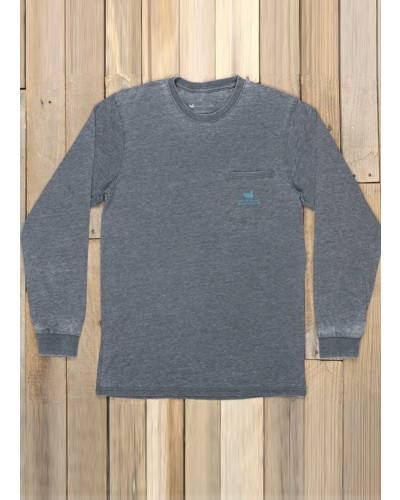 L/S Pond Seawash Tee in Midnight Grey by Southern Marsh
