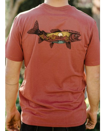 Mountain Trout in Adzuki Red by Fayettechill Clothing Company