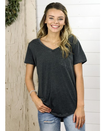 S/S Phoenix Burnout Tee in Black by Another Love