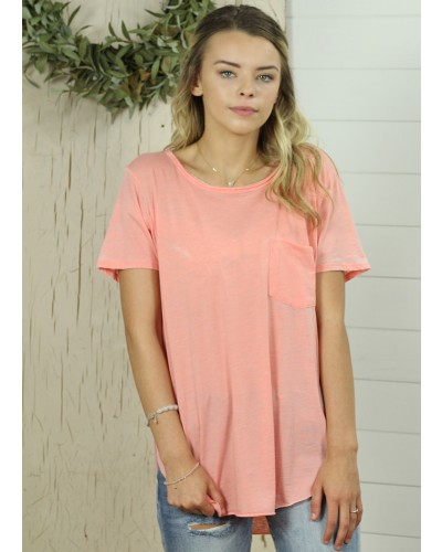 Sam Burnout Crew Neck Tee in Blush by Another Love