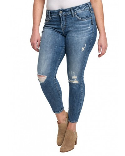 Plus Suki Ankle Skinny in Indigo by Silver Jeans Company