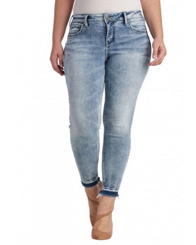 Avery Ankle Skinny in Indigo by Silver Jeans Company